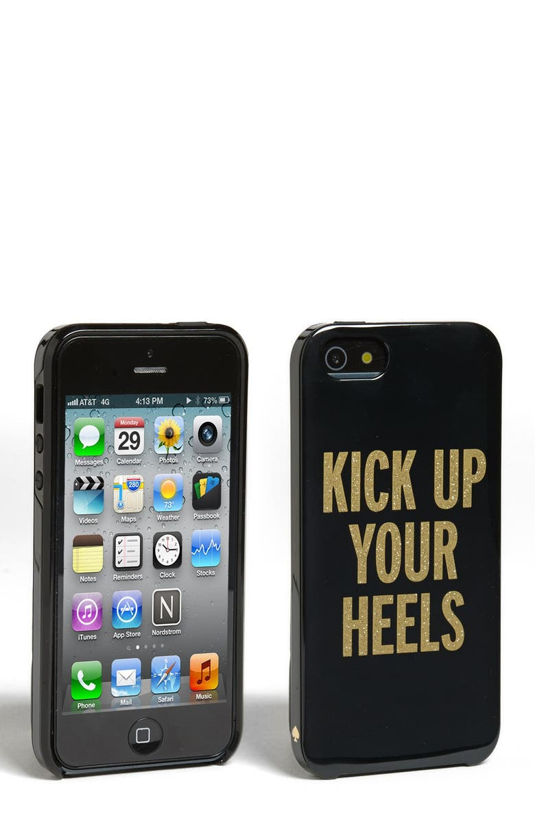 KATE SPADE NEW YORK 'kick up your heels' iPhone 5 & 5S case, Main, color, 001