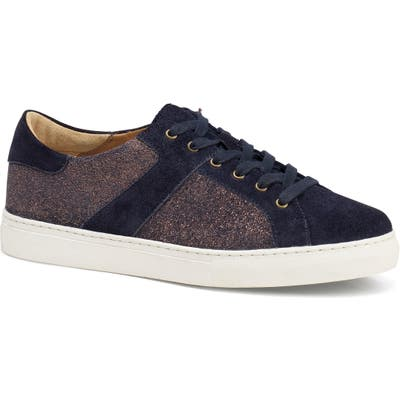 Trask Lindsey Metallic Low Top Sneaker- Blue