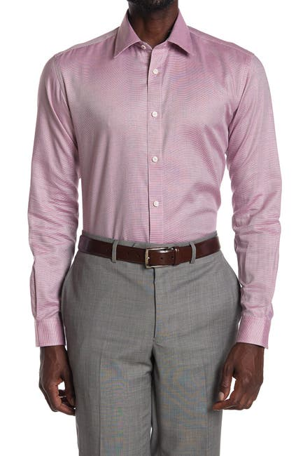 Image of Ted Baker London Solid Long Sleeve Endurance Fit Shirt