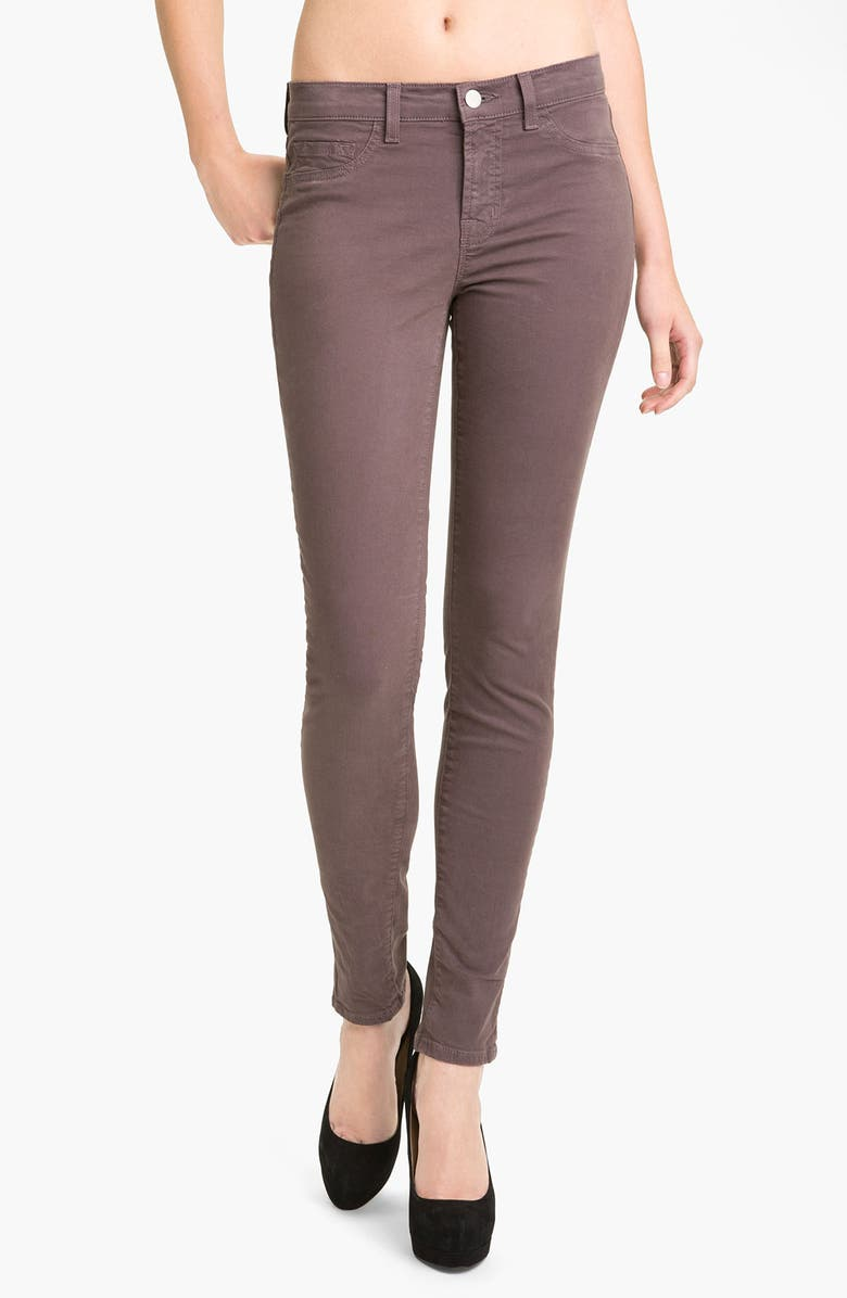 J BRAND Skinny Stretch Twill Pants, Main, color, 020