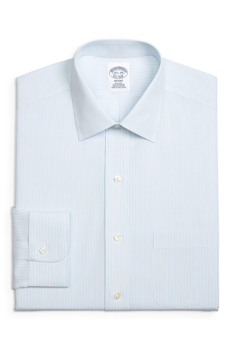 BROOKS BROTHERS Regent Regular Fit Stripe Dress Shirt, Main, color, 455