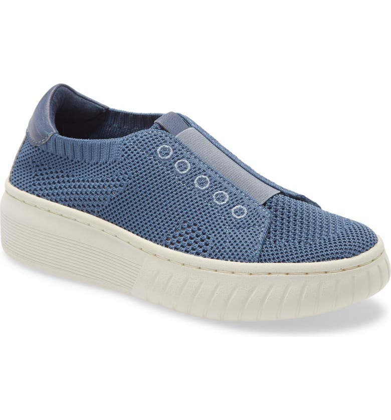 SÖFFT Payton Knit Platform Slip-On Sneaker, Main, color, DENIM KNIT FABRIC
