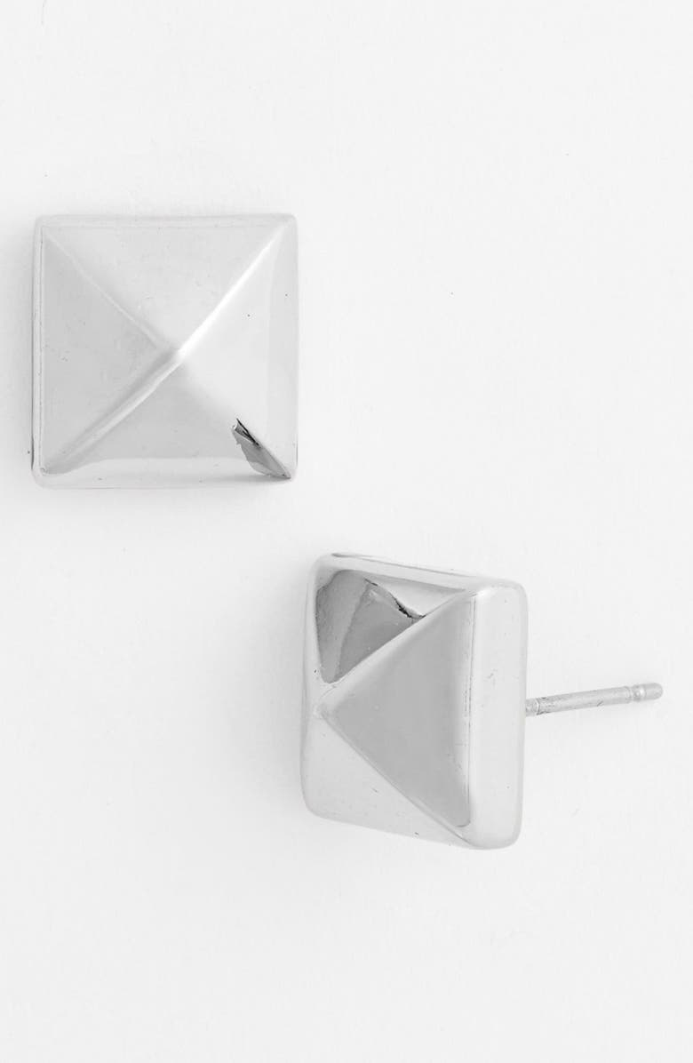 NORDSTROM Large Pyramid Stud Earrings, Main, color, 040