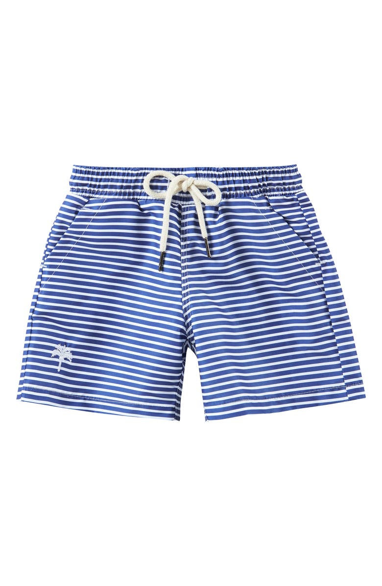 OAS SWIM Stripe Swim Trunks, Main, color, WHITE/ BLUE