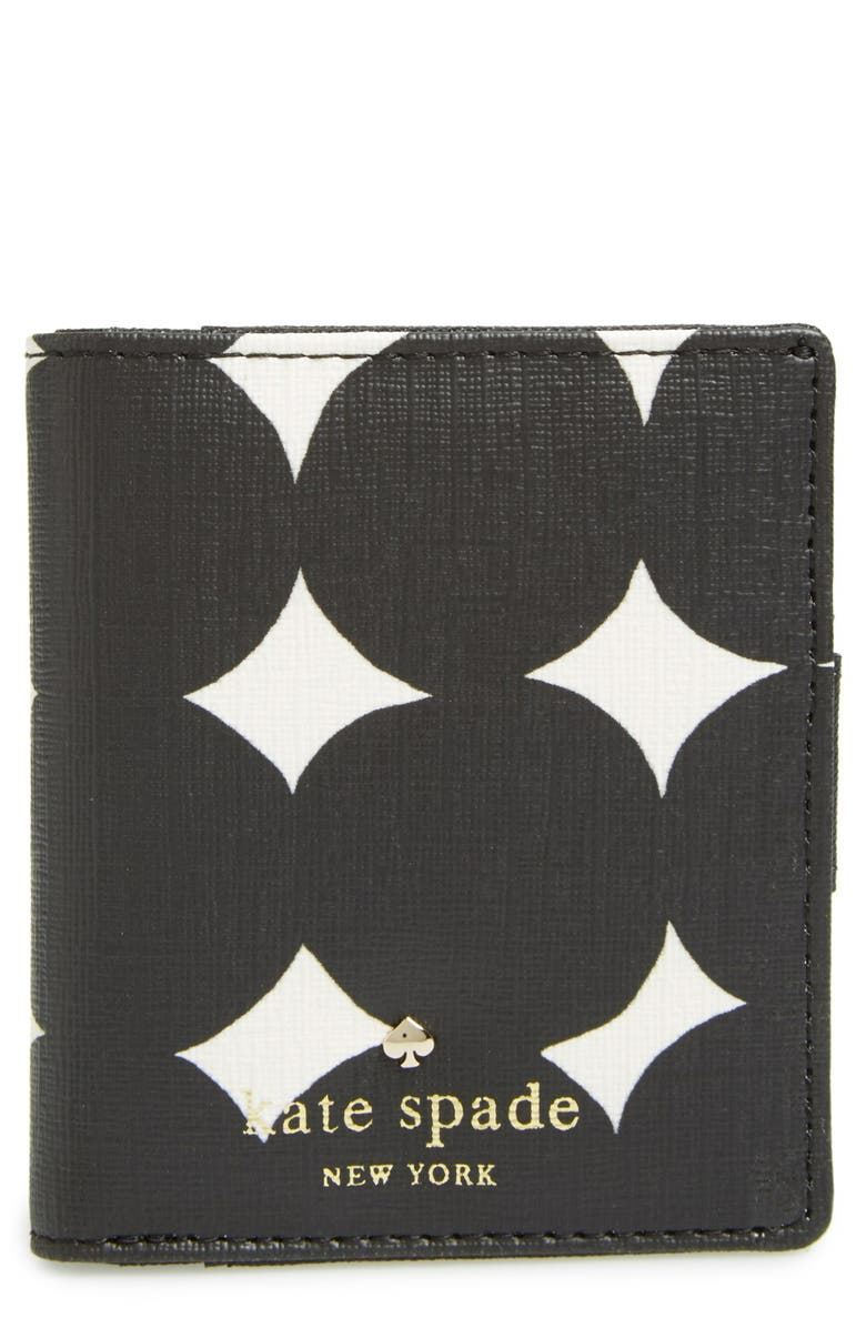 KATE SPADE NEW YORK 'emma lane - small stacy' coated canvas snap wallet, Main, color, 094