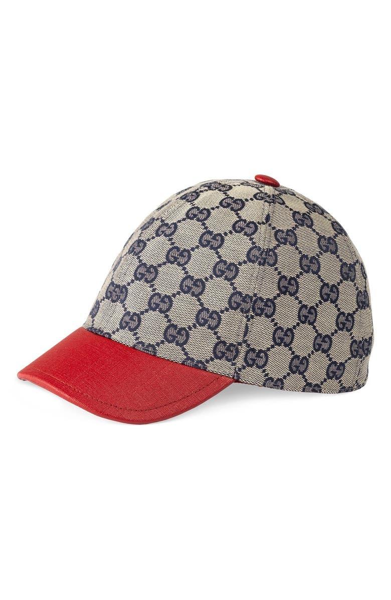 GUCCI 'Junior' Check Hat, Main, color, MULTI
