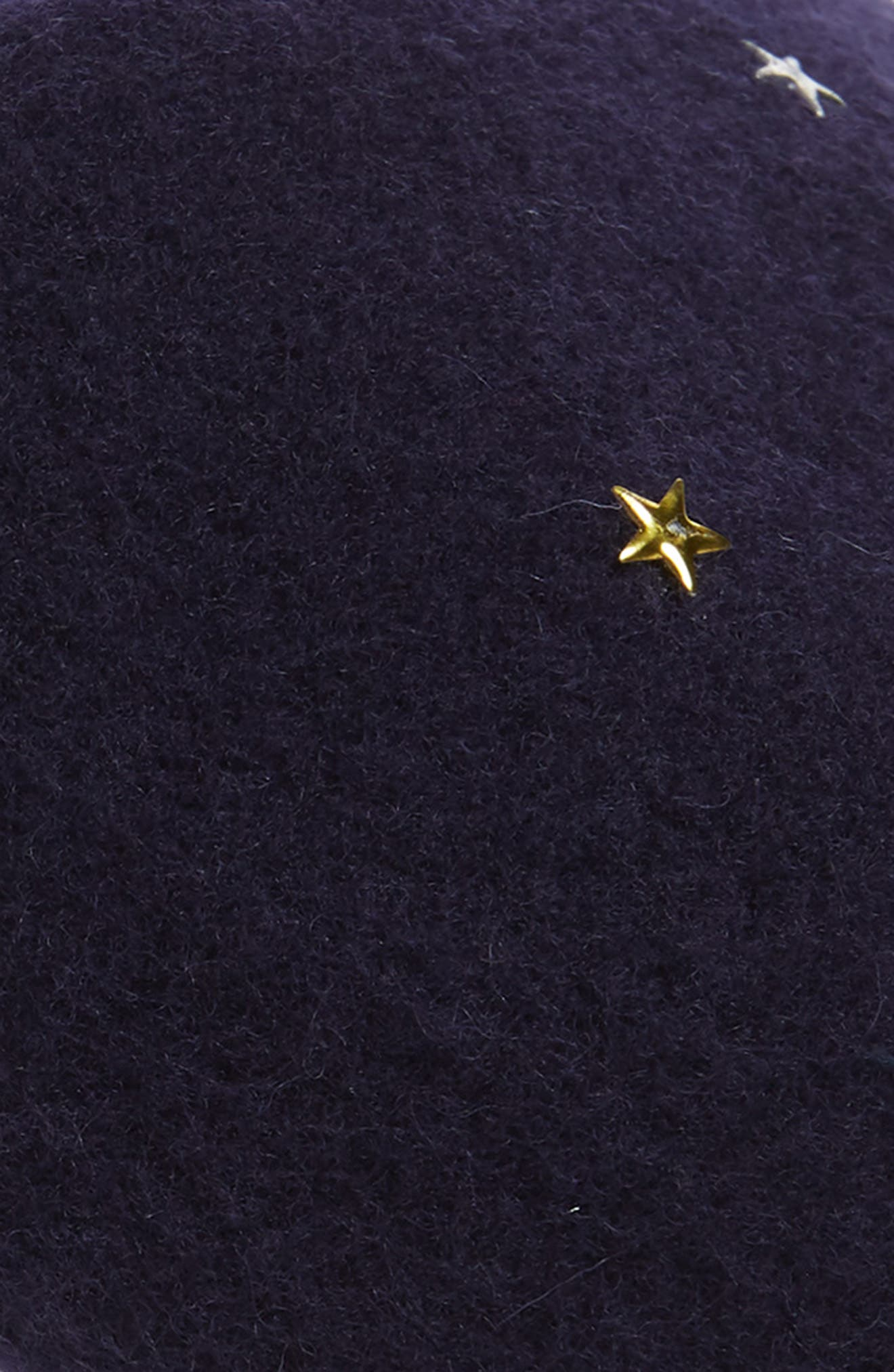 ,                             Star Stud Wool Blend Beret,                             Alternate thumbnail 2, color,                             NAVY