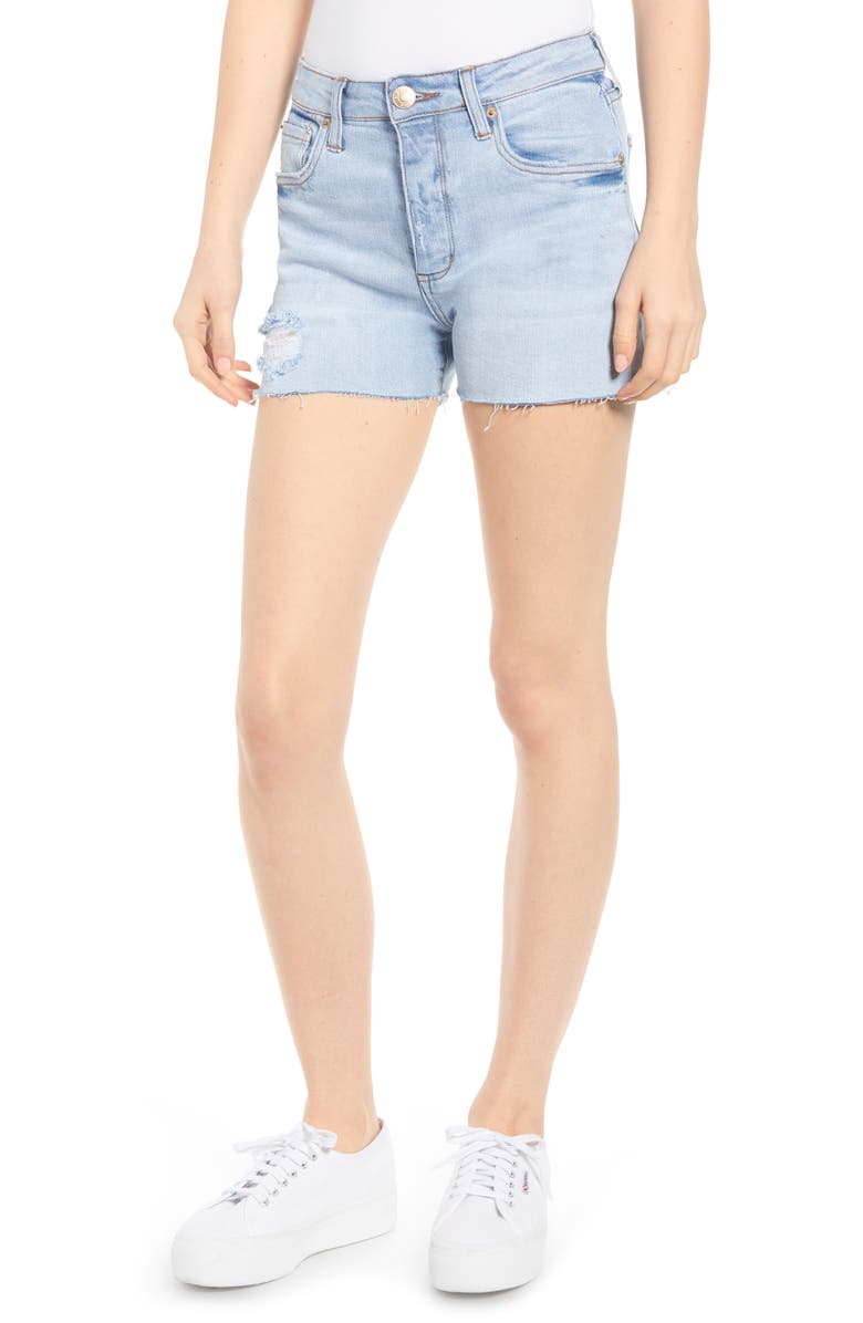 STS BLUE Kate High Waist Denim Shorts, Main, color, WILLOW