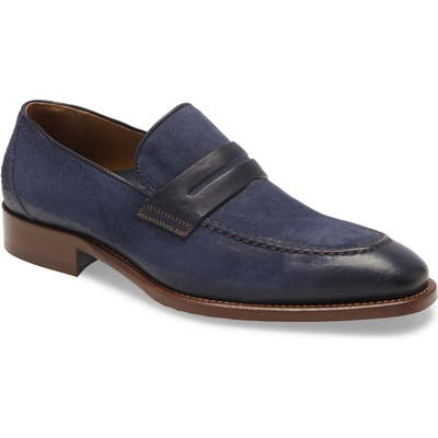 Johnston & Murphy Cormac Penny Loafer, Blue