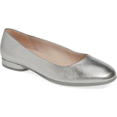 Ecco Anine Ballerina Flat, Metallic