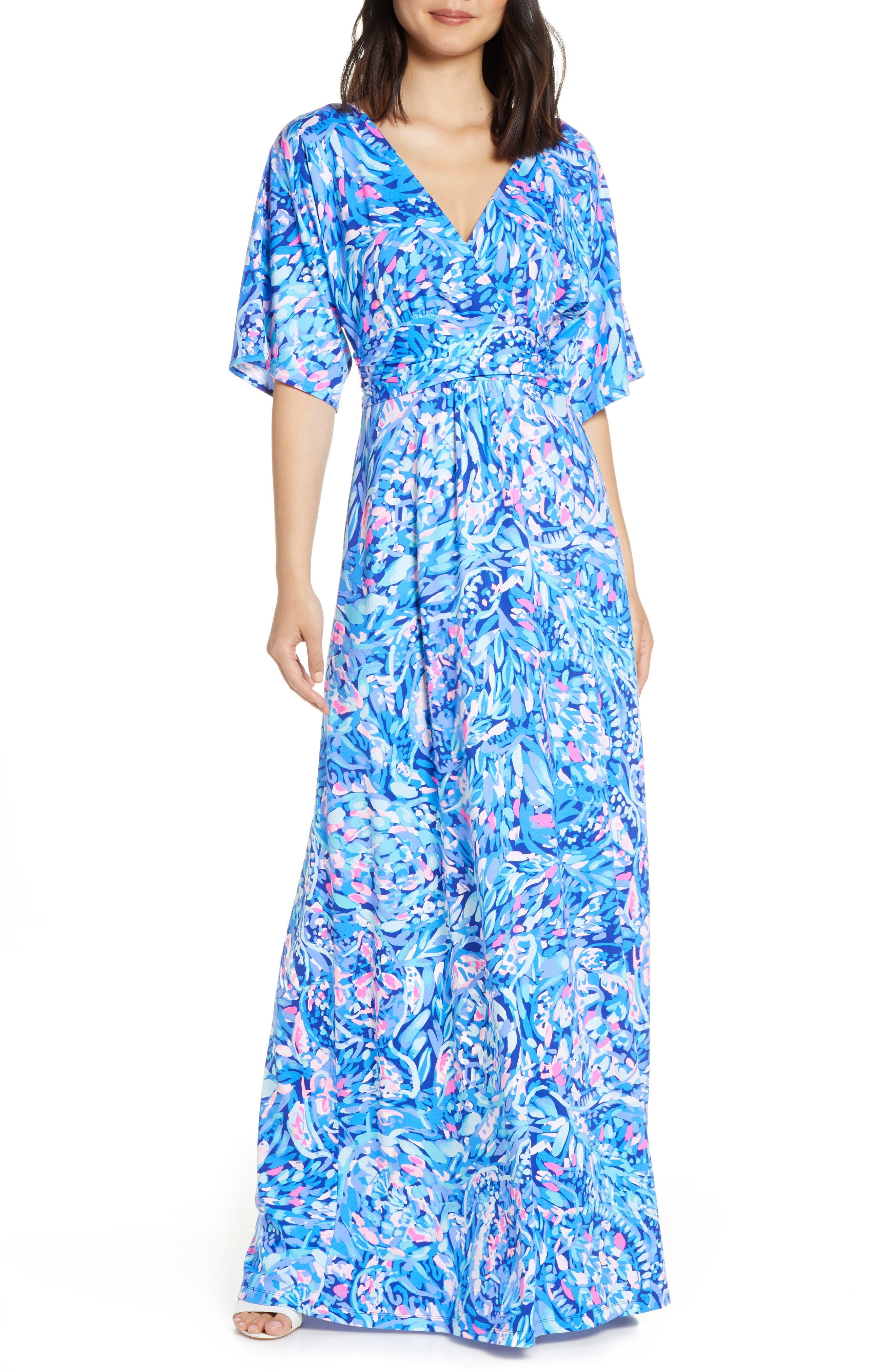 Lilly Pulitzer Parigi Maxi Dress, Blue
