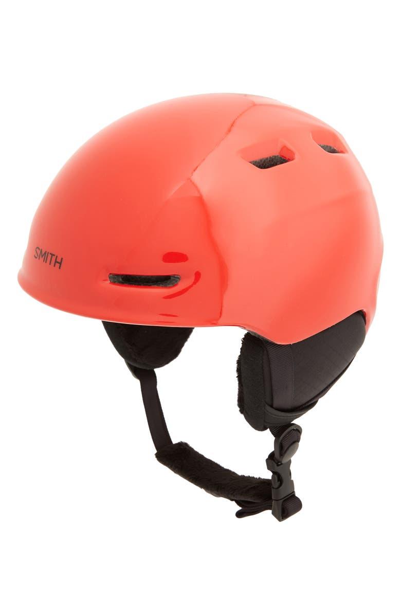 SMITH 'Zoom Jr.' Snow Helmet, Main, color, RED
