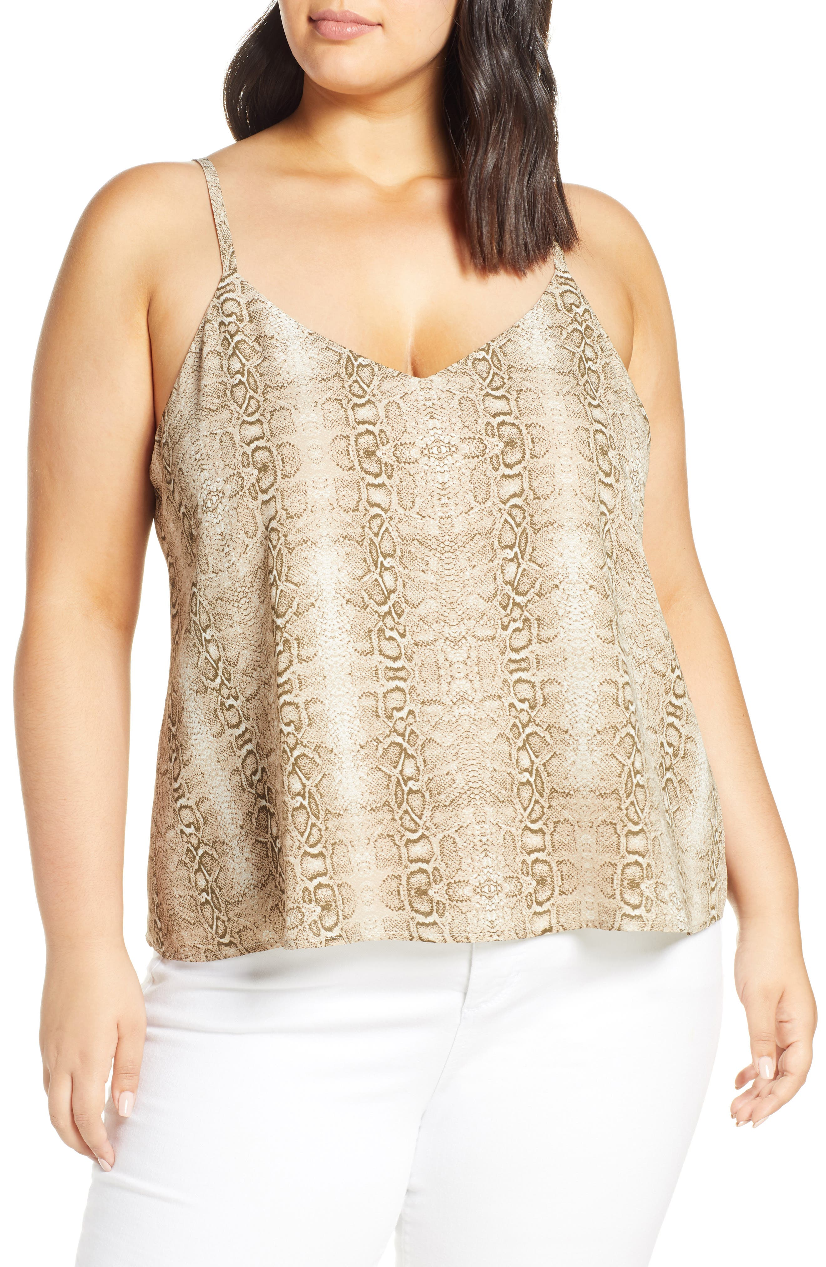 Plus Size Leith Animal Print Camisole, Brown