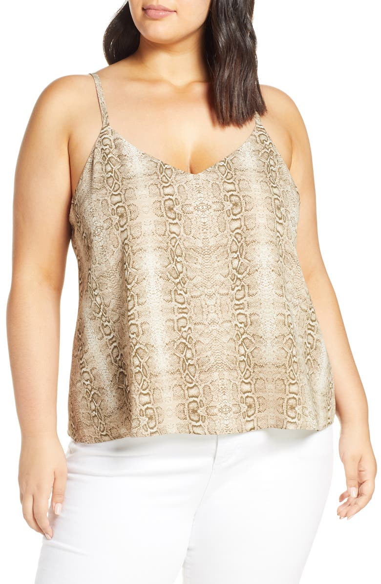 LEITH Animal Print Camisole, Main, color, 235