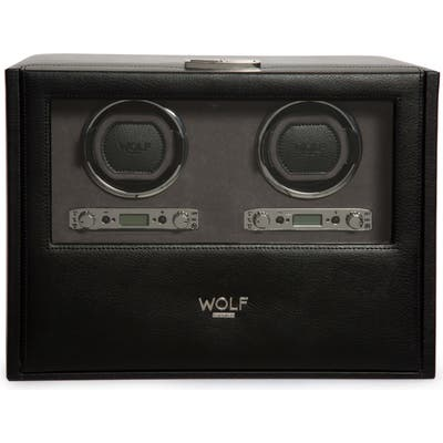 Wolf Blake Double Watch Winder Box - Black