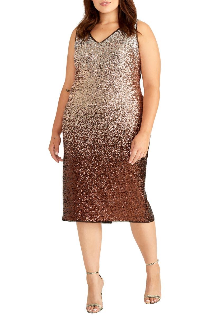 RACHEL RACHEL ROY Karine Sequin Sheath Dress, Main, color, 200