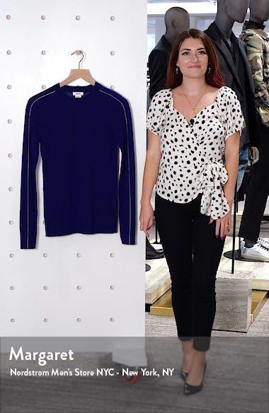 Contrast Stripe Merino Wool Sweater, sales video thumbnail