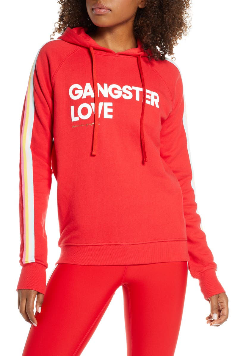 SPIRITUAL GANGSTER Love Raglan Hoodie, Main, color, DAHLIA RED