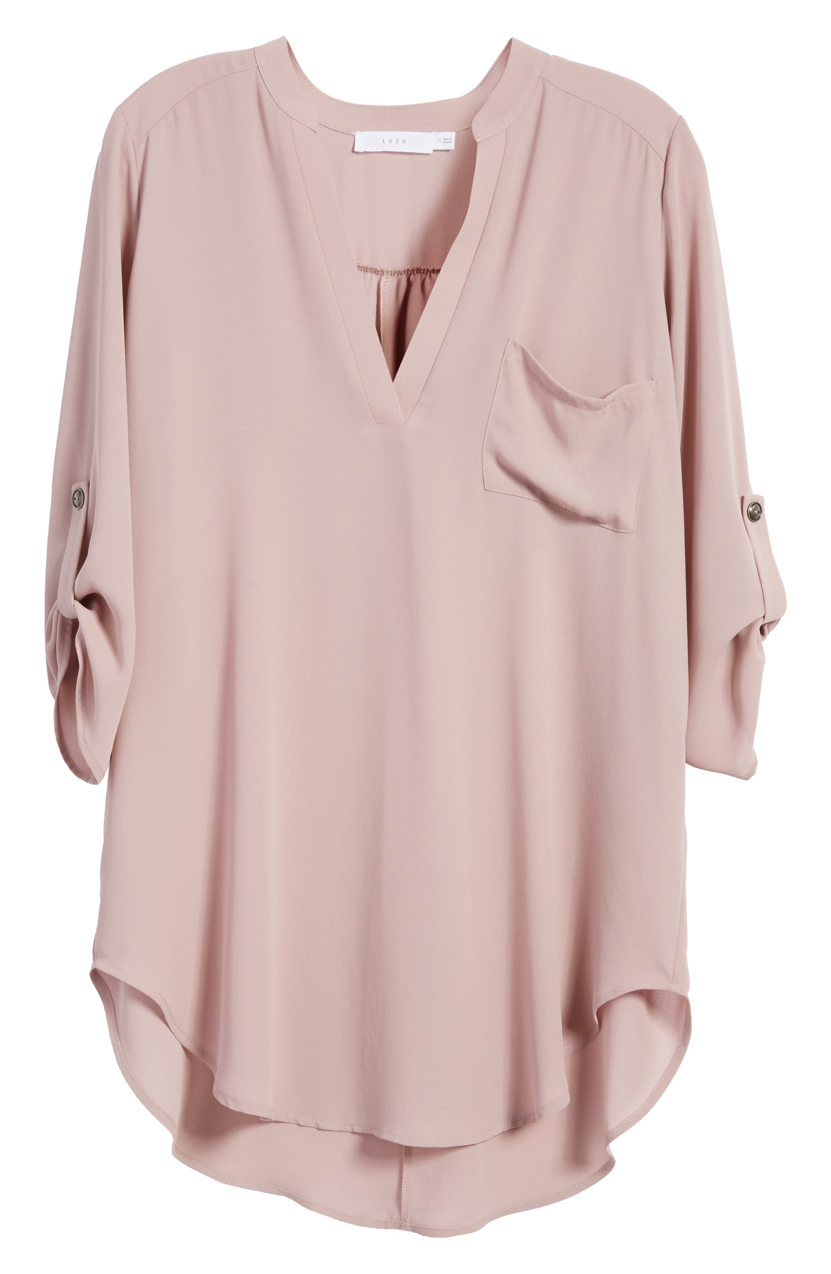 ,                             Perfect Roll Tab Sleeve Tunic,                             Alternate thumbnail 335, color,                             553