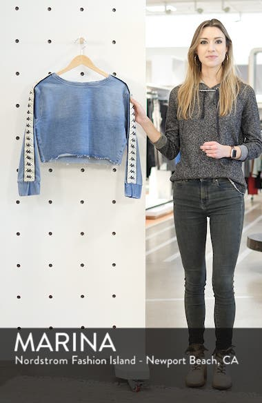 Authentic Bersy Denim Crop Top, sales video thumbnail