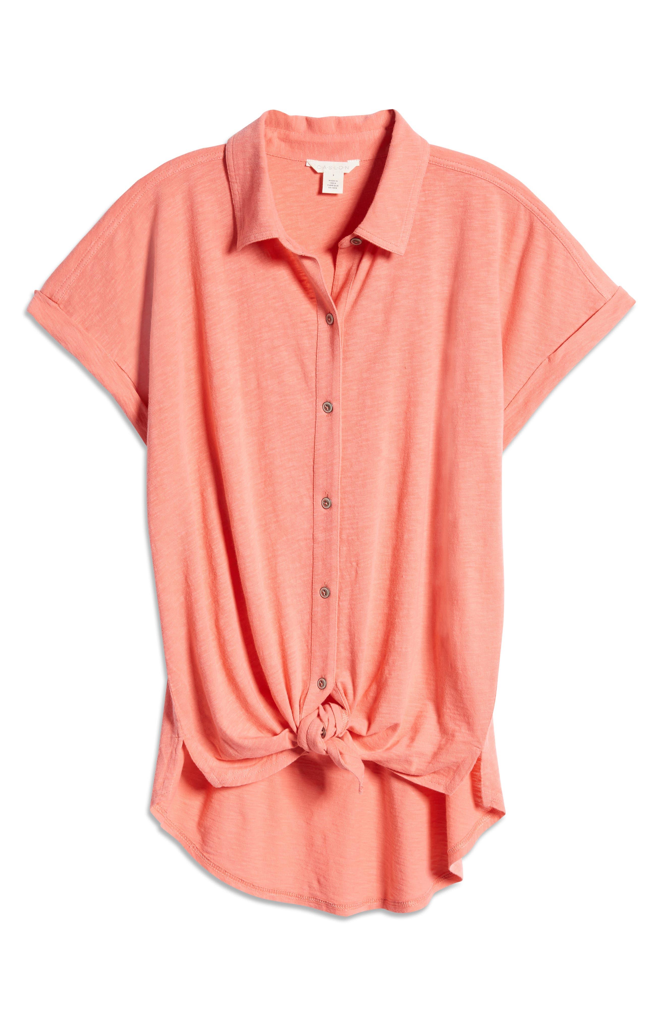 Women's Caslon Slub Jersey Camp Shirt