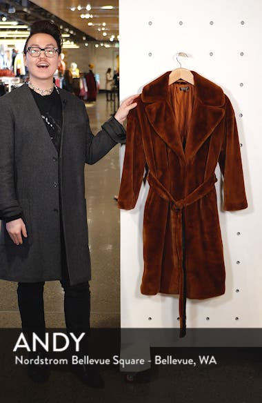 Bella Velvet Faux Fur Coat, sales video thumbnail