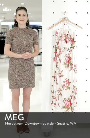 Floral Print Halter Midi Dress, sales video thumbnail