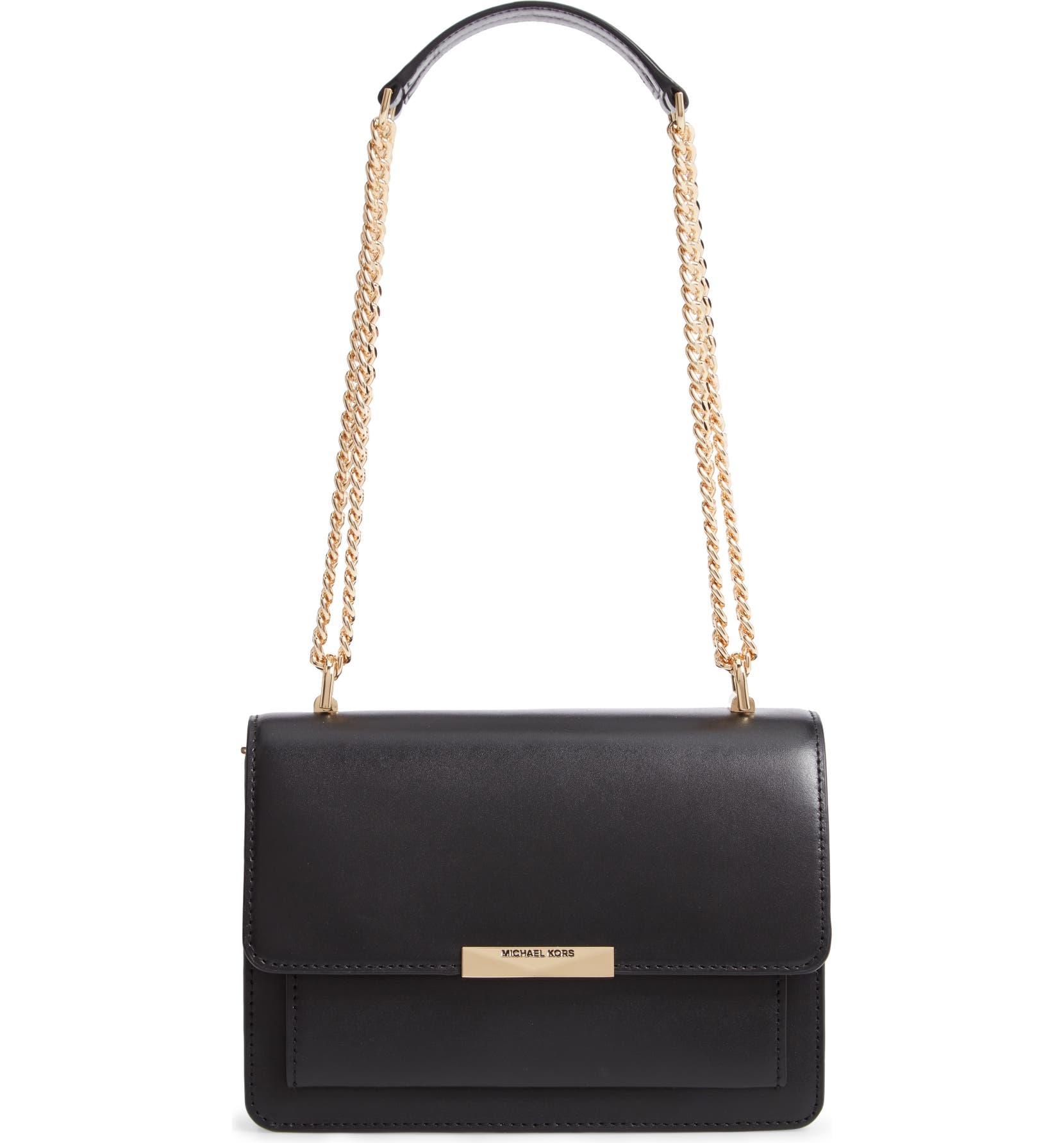 48f9504fefbc MICHAEL Michael Kors Jade Leather Gusset Shoulder Bag | Nordstrom