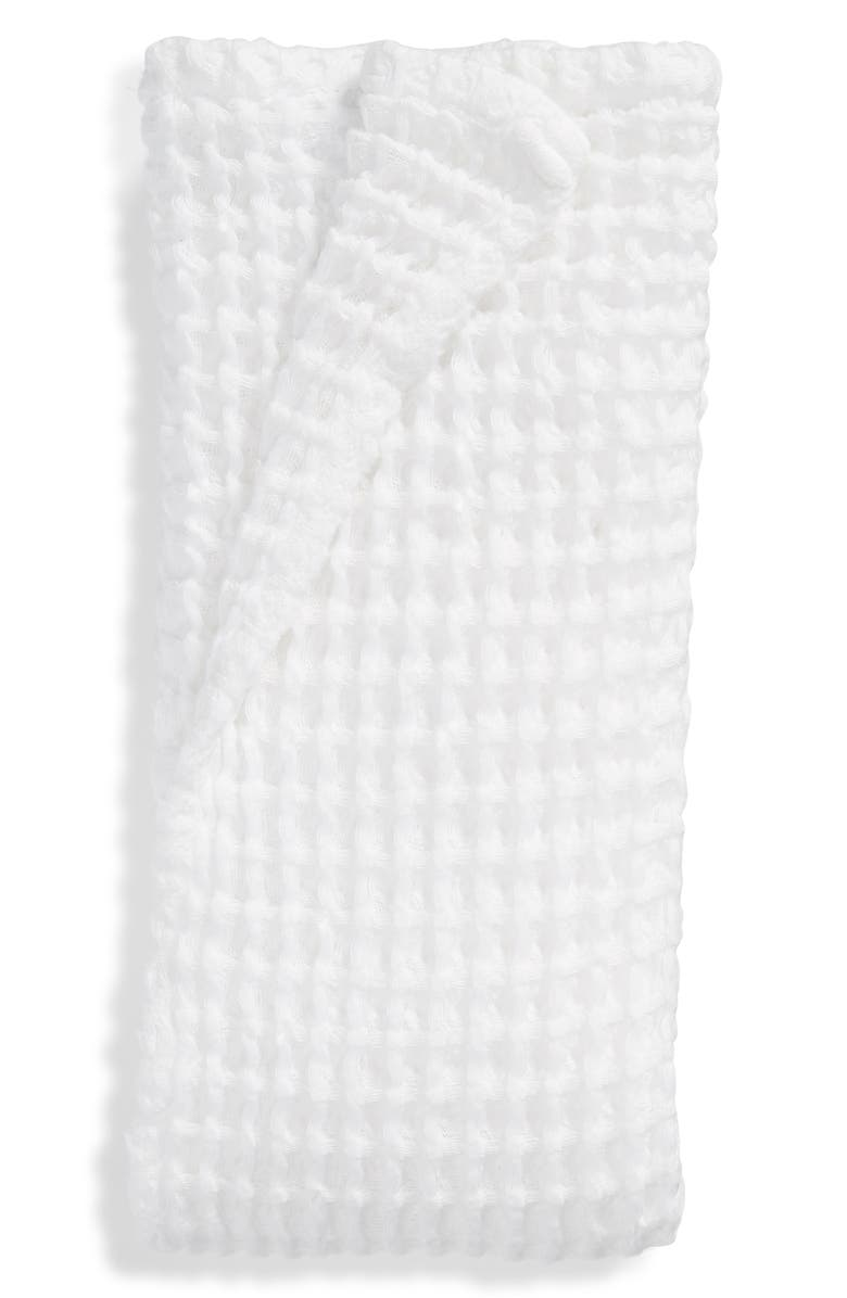 NORDSTROM Waffle Hand Towel, Main, color, WHITE