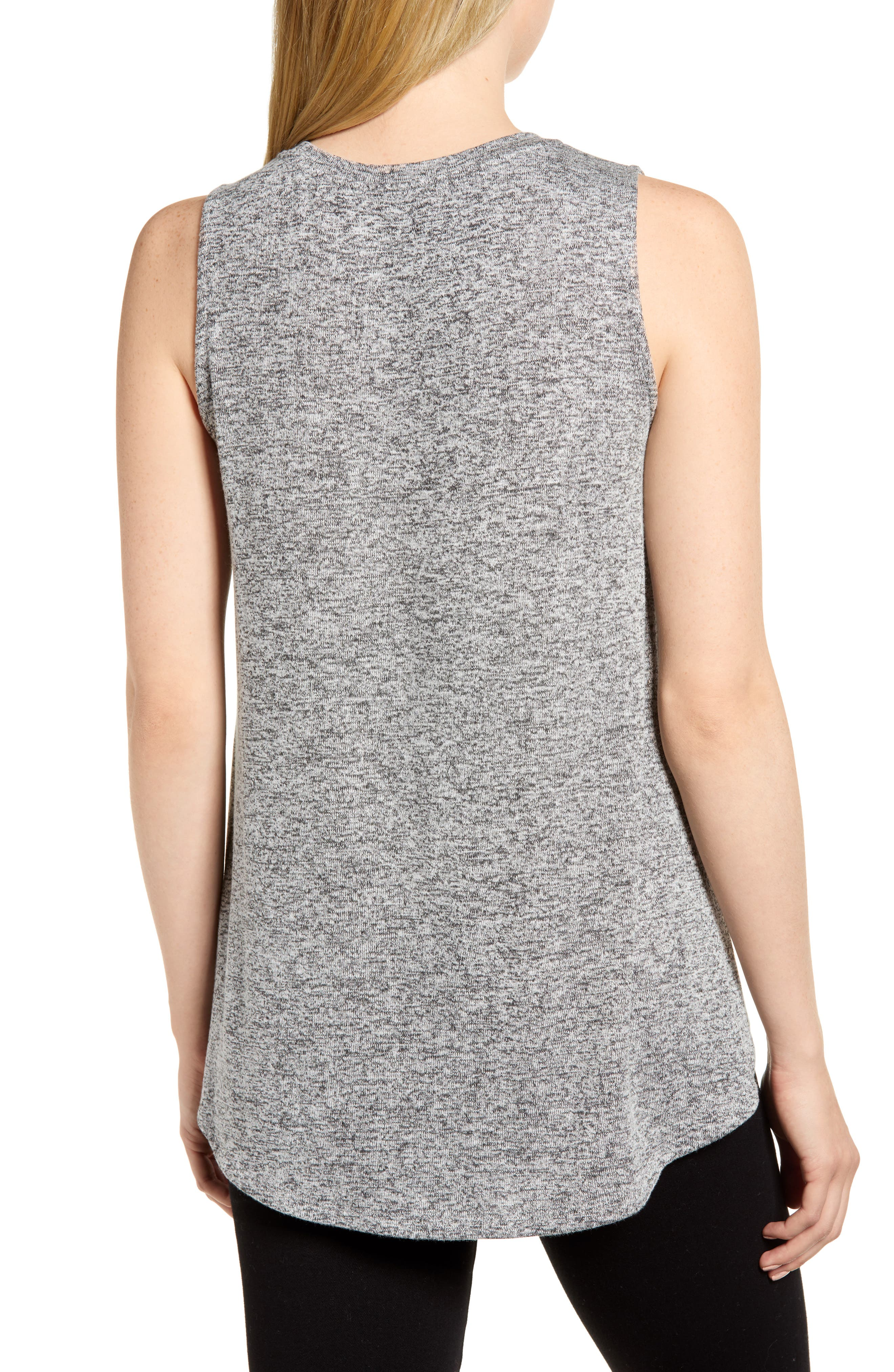 ,                             x Living in Yellow Millie Cozy Muscle Tank,                             Alternate thumbnail 2, color,                             HEATHER GREY