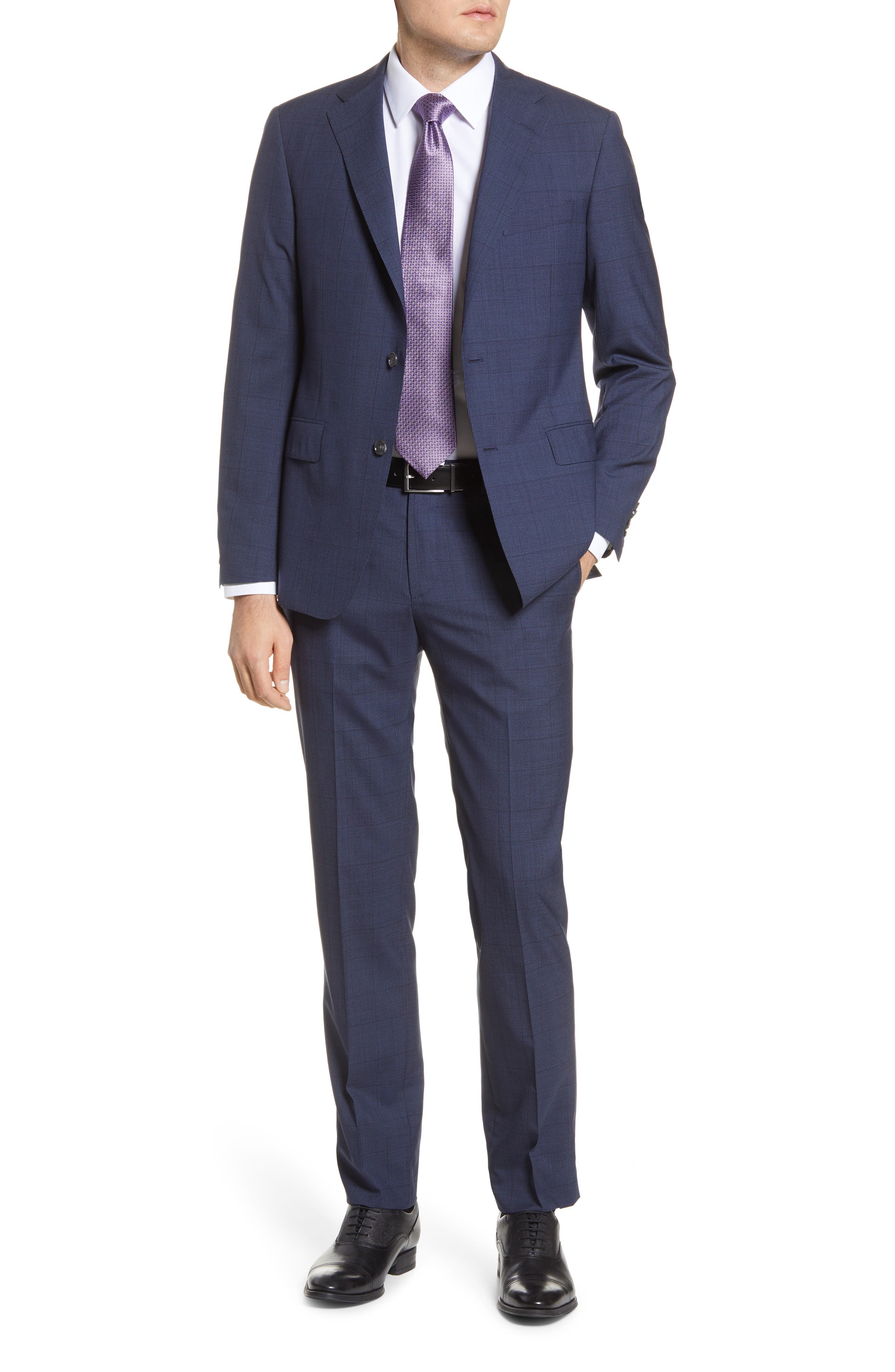 Image of Hickey Freeman Classic Fit Plaid Wool Suit