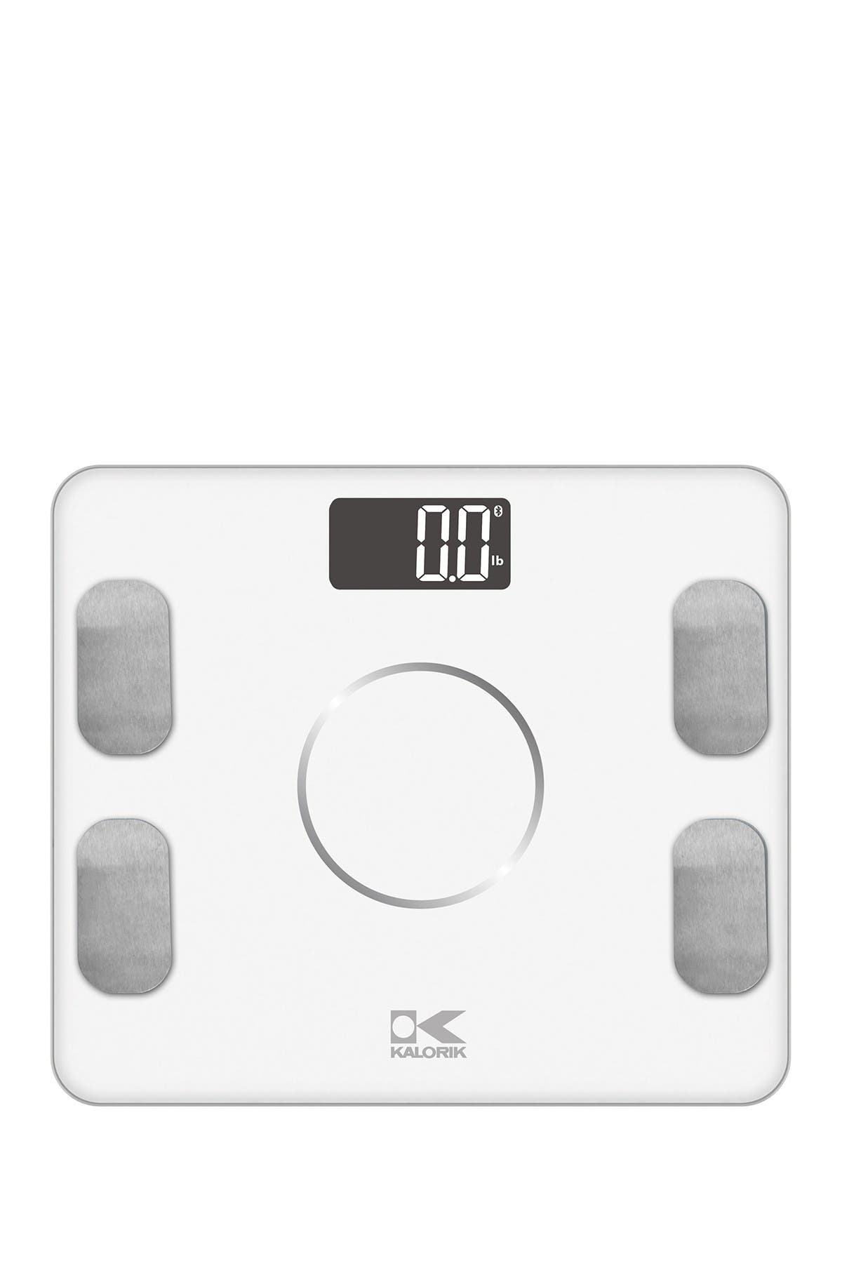 Image of Kalorik Bluetooth White Electronic Body Fat Scale with Body Analysis