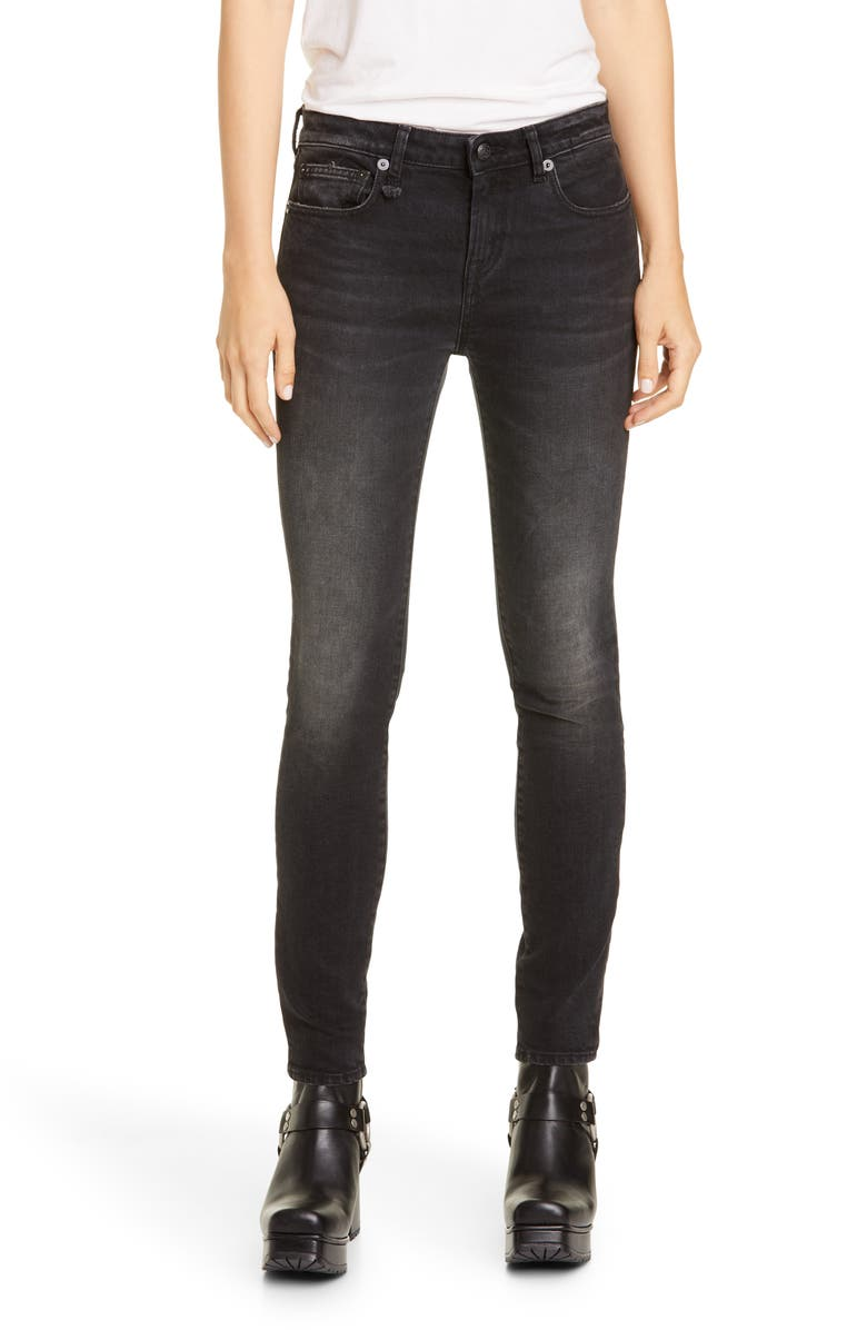 R13 Allison Skinny Jeans, Main, color, MAURA BLACK