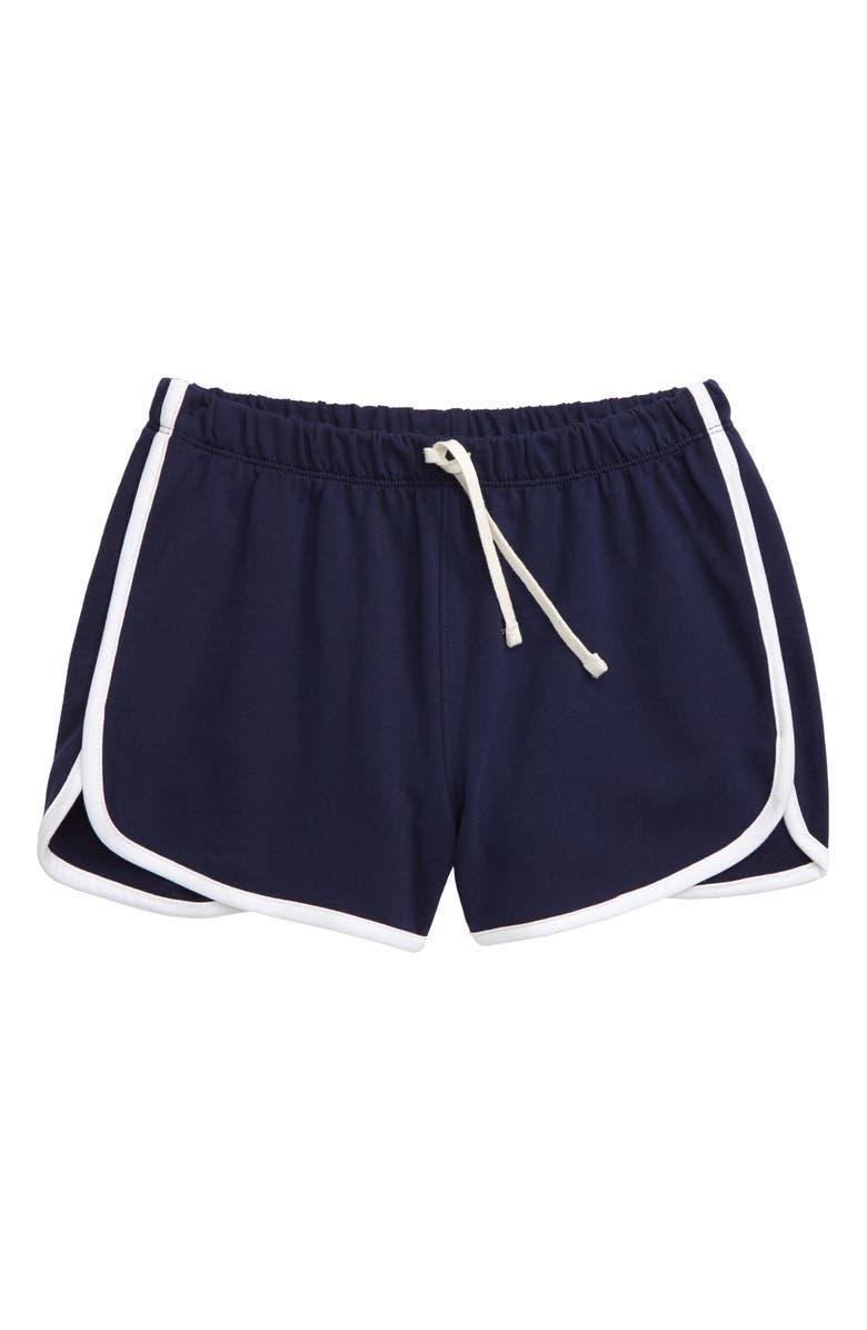 TUCKER + TATE Dolphin Hem Shorts, Main, color, NAVY PEACOAT
