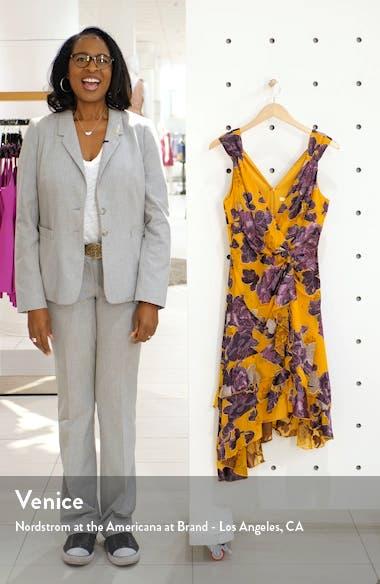 Burnout Asymmetrical Satin Dress, sales video thumbnail