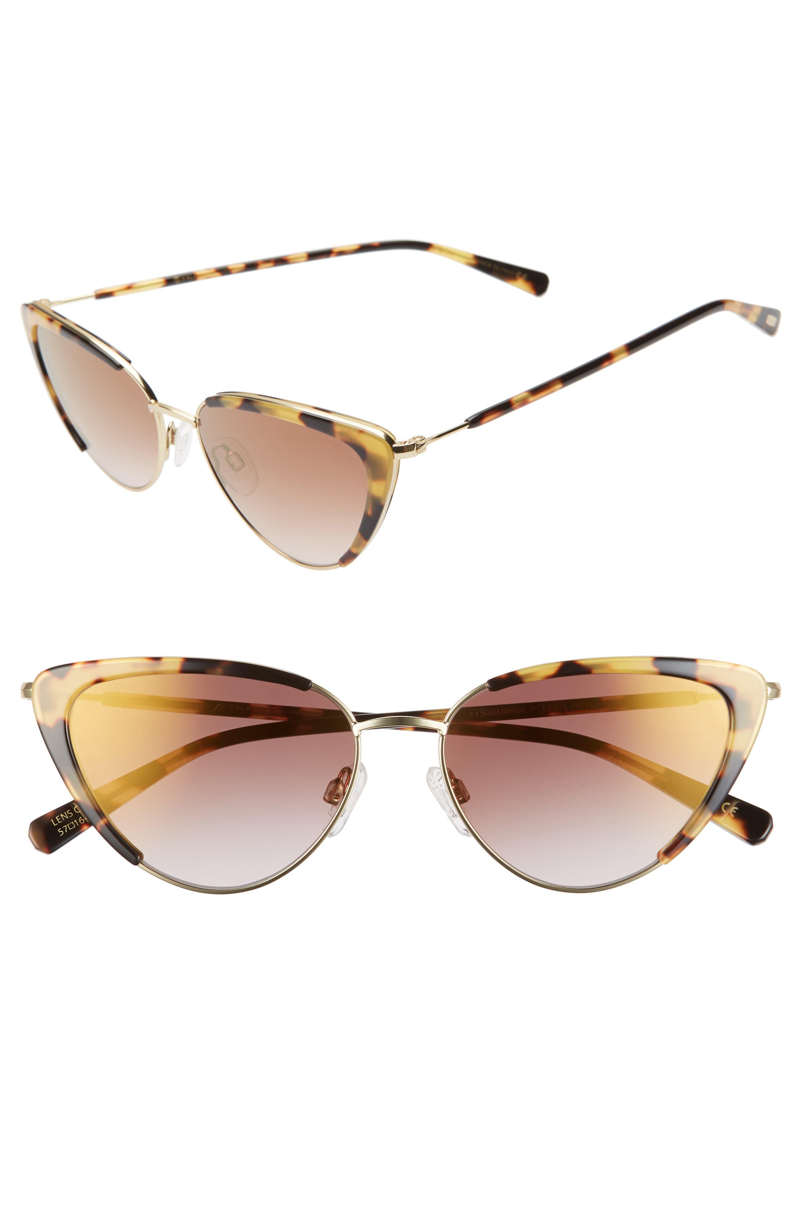 1950s Sunglasses & 50s Glasses   Retro Cat Eye Sunglasses Womens DBlanc X Amuse Society La Luna 57Mm Cat Eye Sunglasses - $180.00 AT vintagedancer.com