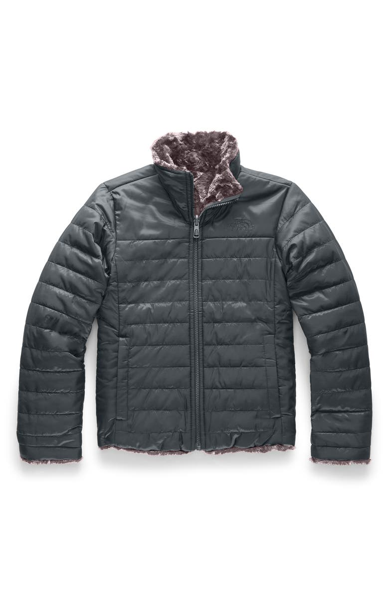 THE NORTH FACE Mossbud Swirl Reversible Water Repellent Heatseeker<sup>™</sup> Jacket, Main, color, ASPHALT GREY