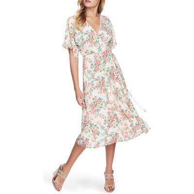 1.state Ikat Bouquet Wrap Dress, Ivory