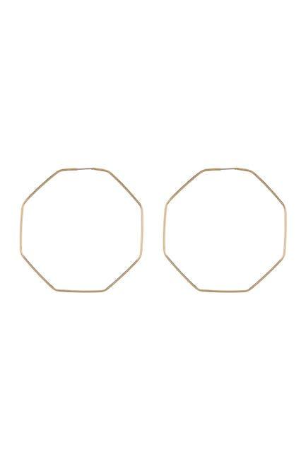 Image of AREA STARS Octagon Hoop Earrings