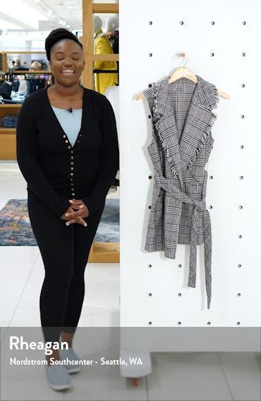 Fringe Collar Belted Vest, sales video thumbnail
