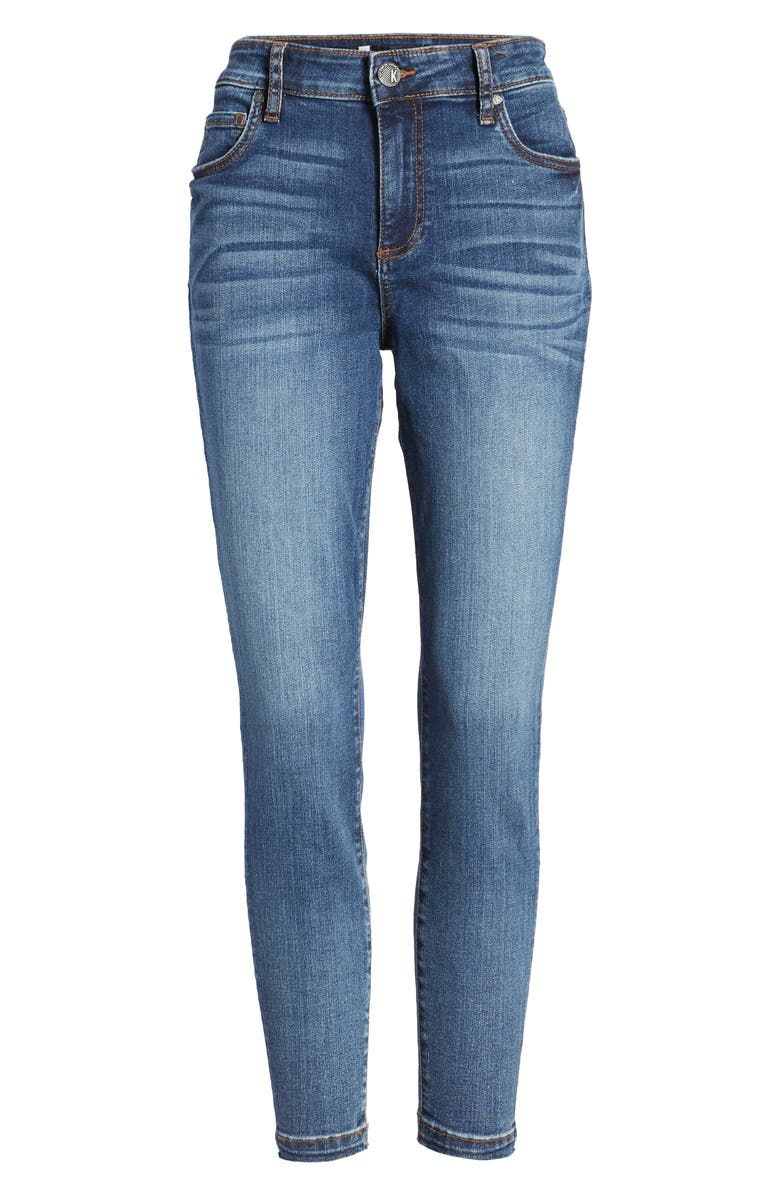 KUT FROM THE KLOTH Donna High Waist Ankle Skinny Jeans, Alternate, color, ASTER