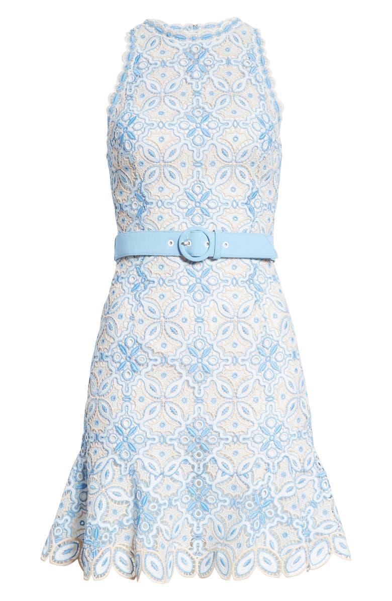 JONATHAN SIMKHAI Guipure Lace Minidress, Alternate, color, CAPRI COMBO
