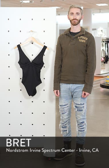 Ruffle Trim One-Piece Swimsuit, sales video thumbnail