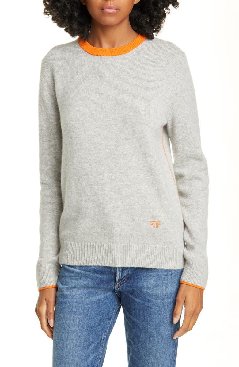 TORY SPORT Performance Merino Wool Blend Sweater, Main, color, MEDIUM GREY HEATHER