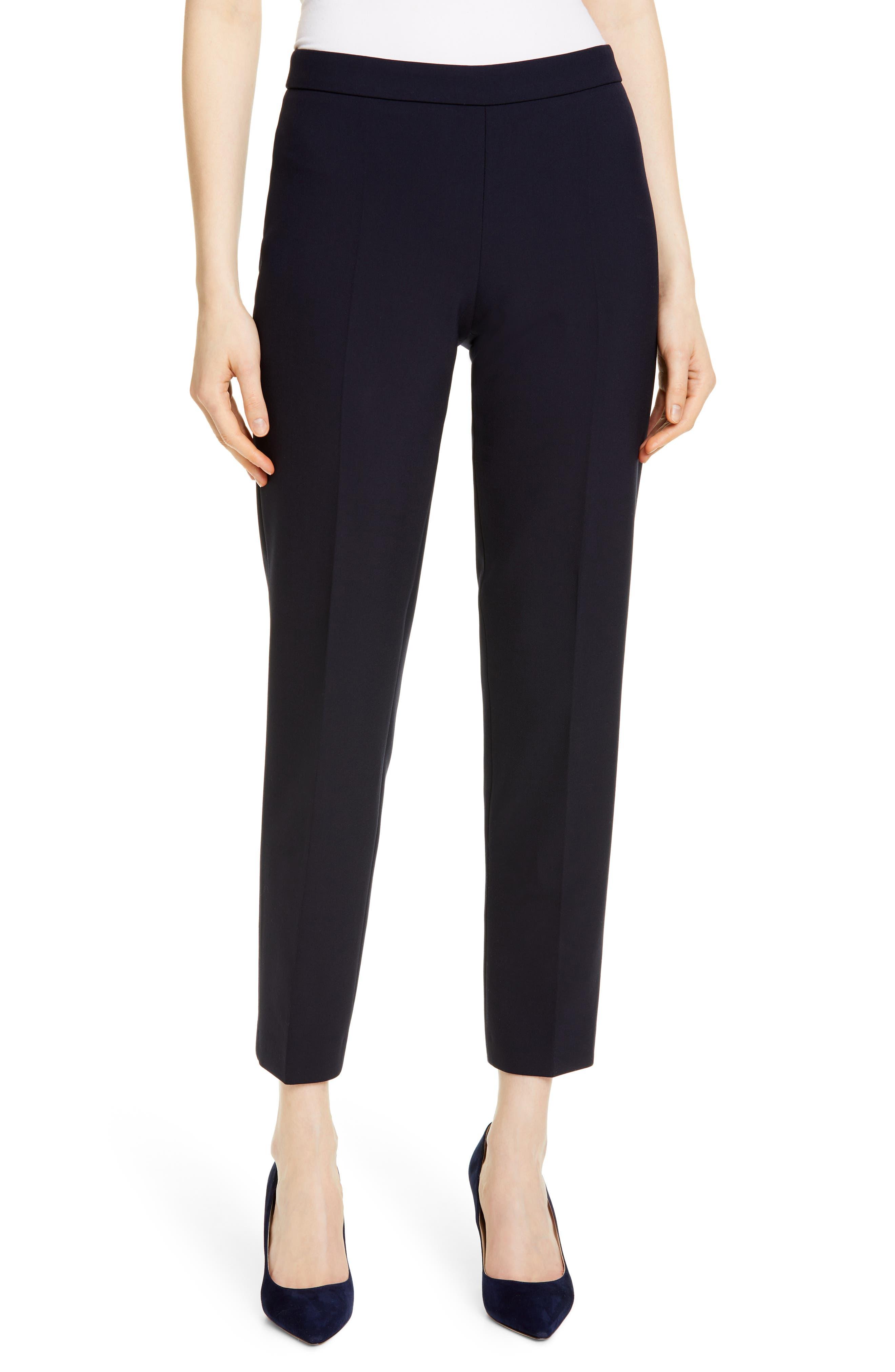 Boss Pants Tiluna Soft Stretch Side Zip Ponte Trousers