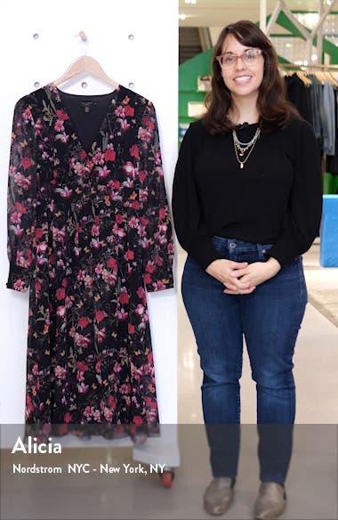Adriela Fern Forest Long Sleeve Dress, sales video thumbnail