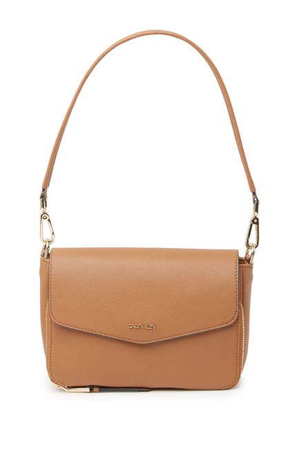 Image of Calvin Klein Ava Saffiano Shoulder Bag