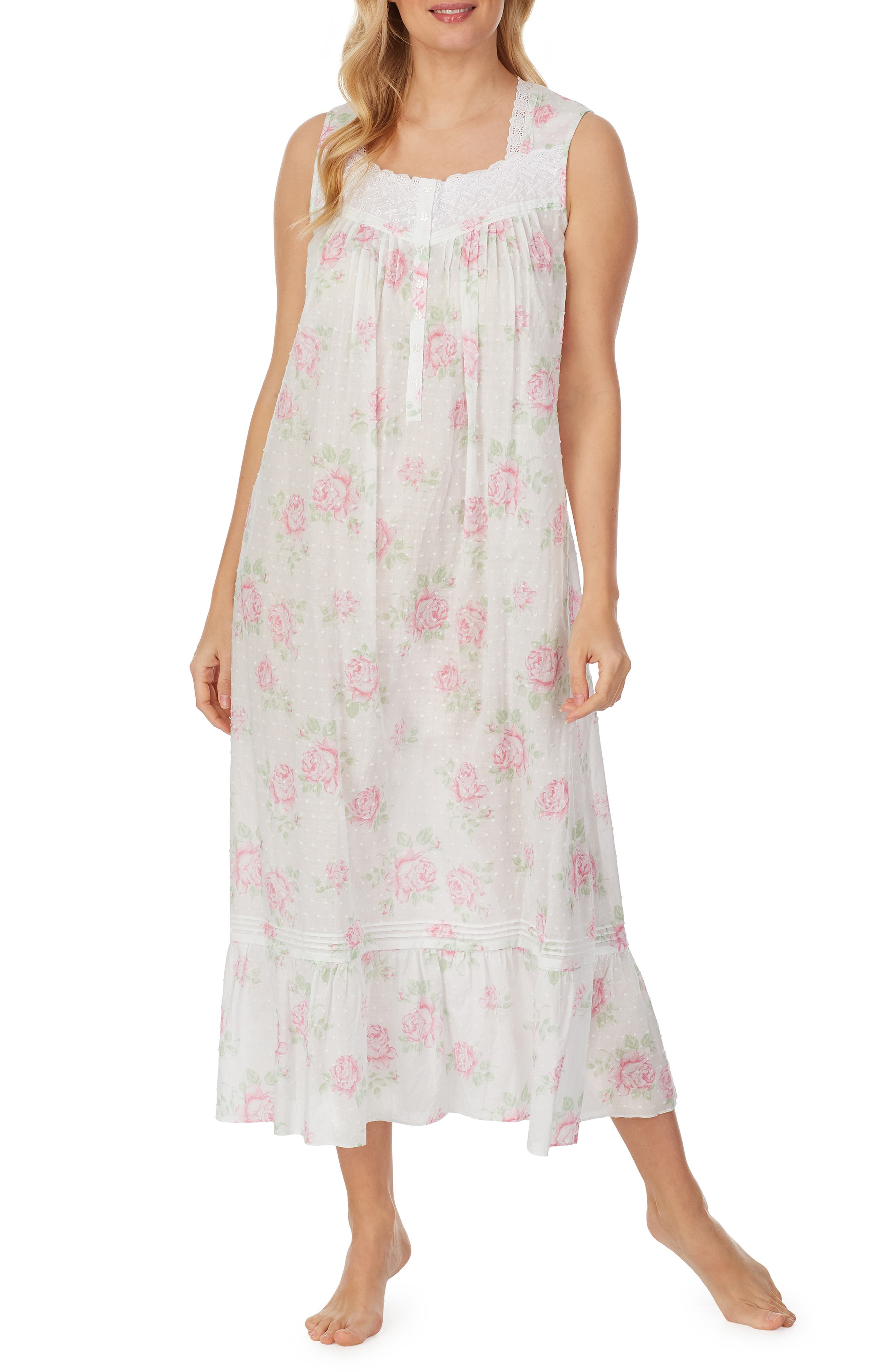Floral Eyelet Ballet Nightgown