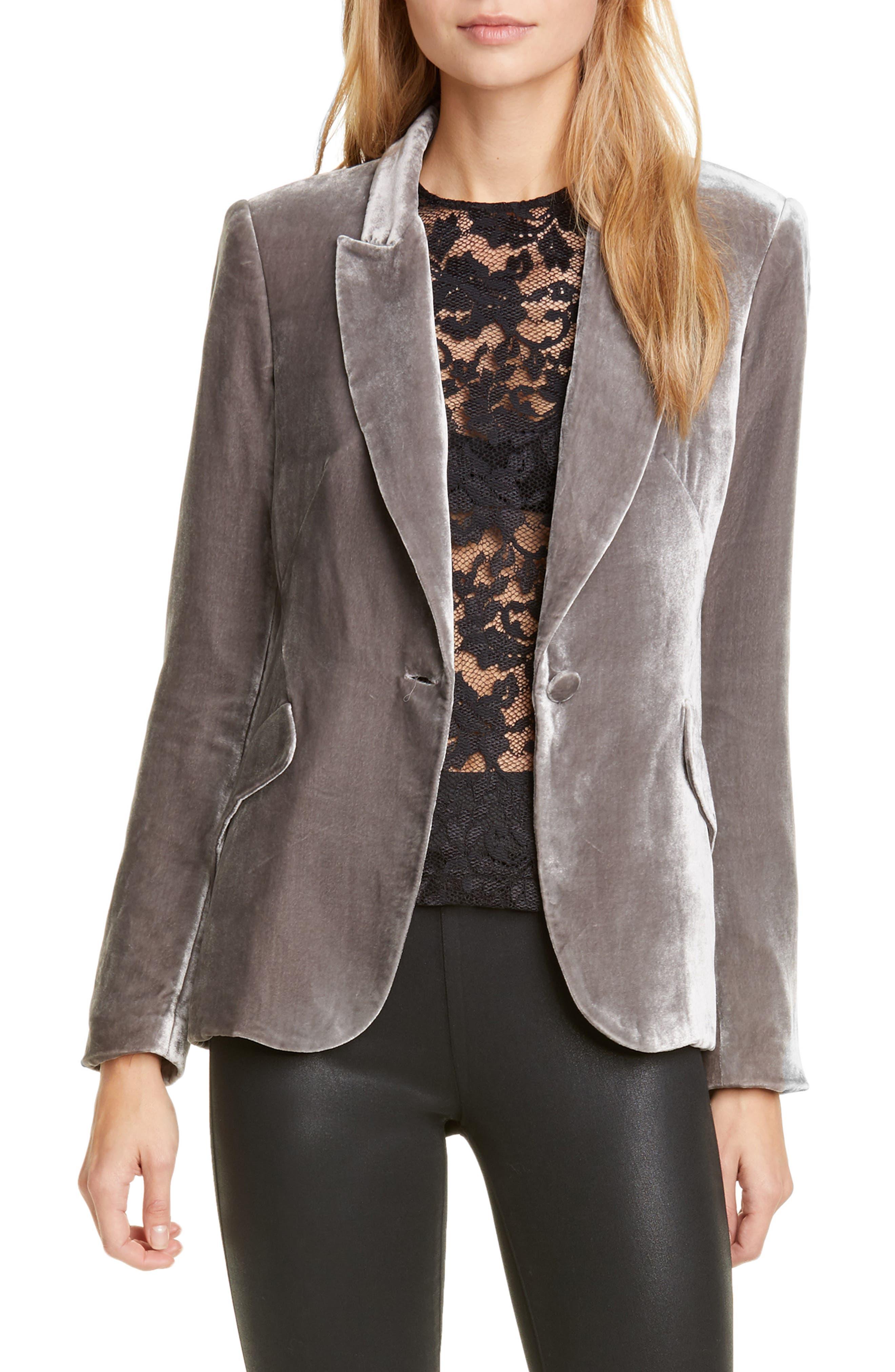 Image of L'AGENCE Velvet Silk Blazer