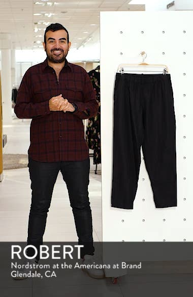 Tapered Linen Ankle Pants, sales video thumbnail
